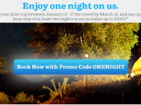AirBnB: Promo Coupon Code: ONENIGHT ($300 Value)
