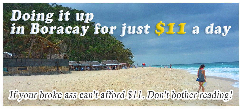 Doing it up in Boracay for just $11 a day